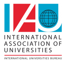 International Association of Universities logo and wordmark English